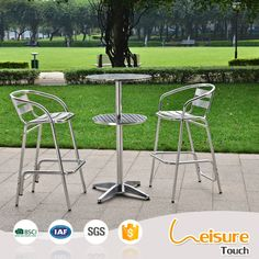 Hot sale anodized shiny metal bistro outdoor beer bar furniture