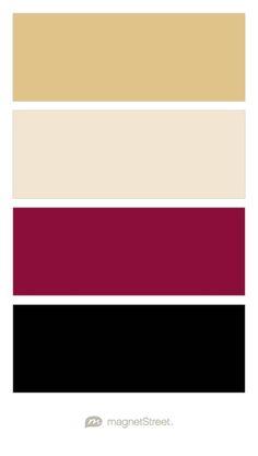 Gold, Champagne, Burgundy, and Black Wedding Color Palette - custom color palette created at MagnetStreet.com