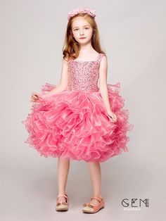 Only $148.99, Flower Girl Dresses Sparkly Hot Pink Short Ruffled Crystals Pageant Dress #EFV07 at #GemGrace. View more special Flower Girl Dresses now? GemGrace is a solution for those who want to buy delicate gowns with affordable prices. Free shipping, 2018 new arrivals, shop now to get $10 off!