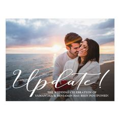 Simple formal and elegant postponed wedding invitation is perfect for letting your guests about postponement of the wedding. Simply personalize the postcard with your desired wording using the fields provided. Thank You Postcards, Photo Postcards, Post Wedding, Wedding Photos, Wedding Ideas, Postcard Wedding Invitation, Wedding Invitations, Funny Wedding Cards, Bear Wedding