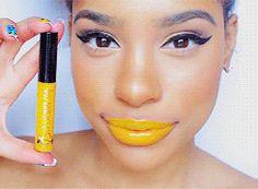 Ruby Kisses Lip Lacquer in Intense Yellow (from BeautyOnlineSupply.com) - ItsMyRayeRaye