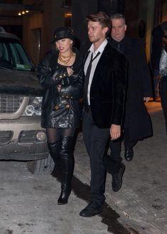 Miley & Patrick leaving SNL LAST NITE