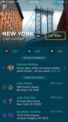 Traveller App by Ludmila Shevchenko for Tubik Studio