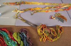 Beads Baubles & Jewels Episode #1713: Cynthia Deis shows how to make a ruched fiber necklace.