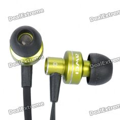AWEI ES900i Stylish In-Ear Earphone w/ Microphone for Iphone 4 - Green (3.5mm-Plug / 125cm-Cable)