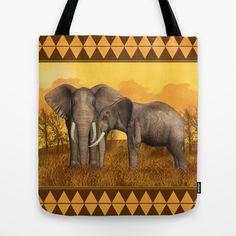 Elephants Tote Bag by Moonlake Designs - $22.00