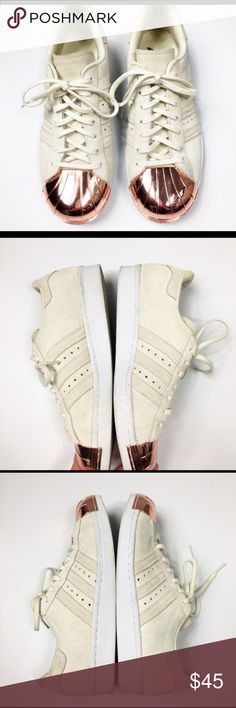super popular abc9e b1f6d Adidas Rose Gold Cap Suede Super Star shoes Beautiful is very very nice  shape. Rose