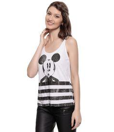 Regata Feminina com Estampa do Mickey - Lojas Renner