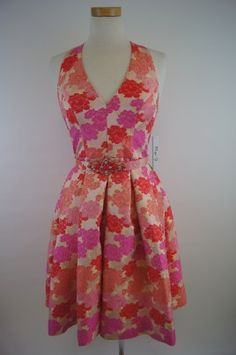 Eliza j yellow floral dress ginger