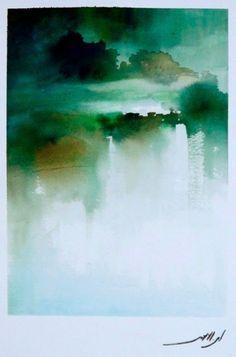 MUSTAFA BEN LAHMAR Art Aquarelle, Abstract Watercolor, Watercolor Paintings, Watercolours, A Course In Miracles, Watercolor Techniques, Cool Paintings, Textures Patterns, Painting Inspiration