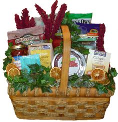 organic cancer get well gift basket