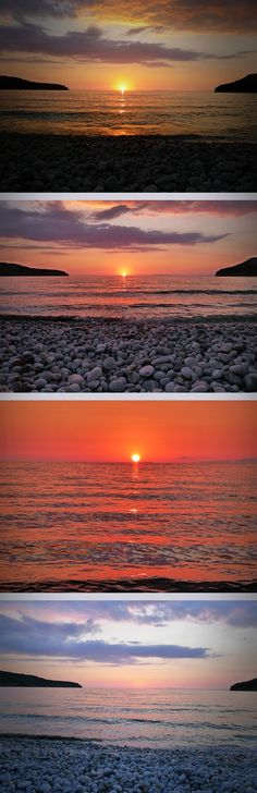 Sunsets at Diros Beach, Mani, Lakonia Greece