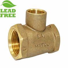 Matco Norca Crtf040303lf 3 4 Fpt X 1 2 Fpt X 1 2 C Cast Brass Adapter Tee Lead Free It Cast Lead Free Brass