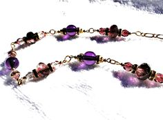 Plummy Amethyst Czech Glass Necklace and Earrings Set by jlisiecki on Etsy