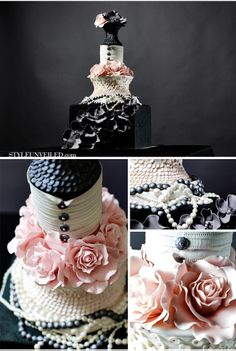 Canadian Hostess Blog: Coco Chanel-inspired events. Cake by Style Unveiled