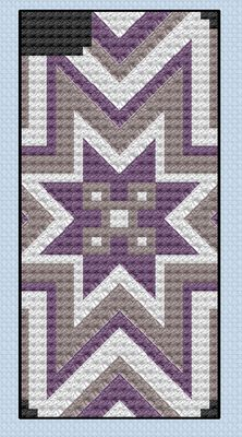 Free Norwegian Star Cross Stitch pattern for an iPhone cover (or really anything else) by Me!