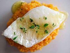 Rybí filé s mrkvovou kaší.