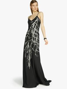 beautiful feather detail gown