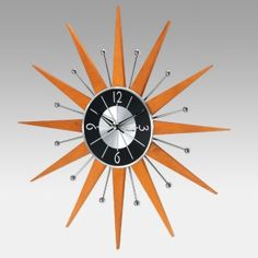 George Nelson Inspired Starburst Crown Wall Clock by Kirch
