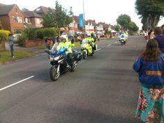 Warwickshire Police outriders (via Tim R)