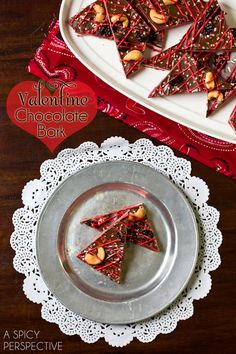 Chocolate Bark Recipe for Valentines Day | A Spicy Perspective @spicyperspectiv