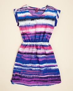 stripe smeared dress for tween girl this would go great with a black belt Summer | Big Fashion Show tween dresses