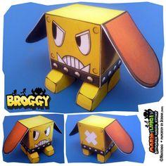 Broggy papertoy de Jerom    http://www.paper-toy.fr/2013/01/02/broggy-papertoy-de-jerom/    #papertoys #papercraft #paper #arts #toys #Nintendo #FanArt #DIY