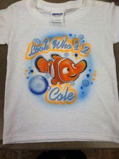 Custom Airbrushed Finding Nemo T-Shirt