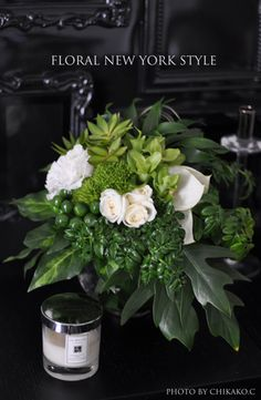 verde e bianco with small white anthuriums