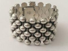 """1940's Sterling Silver Georg Jensen """"Onion"""" Bracelet"""