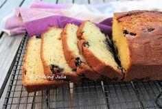 COOKING JULIA : CAKE AUX MYRTILLES, YAOURT ET CITRON