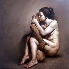 Roberto Ferri Ettore e Andromaca 2010 70 x 70 cm Oil on canvas
