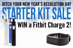 "WIN A Fitbit Charge 2! ""SAVE"" this pin to be entered!  ALSO, save 20% off select starter kits with coupon code ""KEEPYOURRESOLUTION""  Sale Starter Kits can be found here: https://www.mtbakervapor.com/tags/KEEPYOURRESOLUTION?utm_source=011817Starterkits&utm_campaign=pinterest&utm_medium=cgefroh"