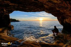 """Hangin' at Paradise""  Lake Superior Cave"