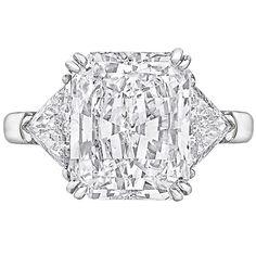 Graff 5.02 Carat GIA Cert Radiant-Cut Diamond Engagement Ring
