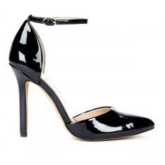Giselle almond toe pump - Black
