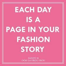 Each day is a page in your #fashion story!