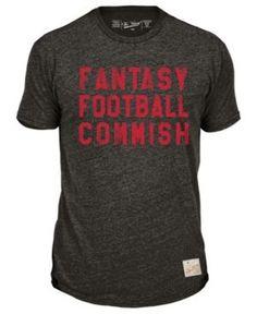 Retro Brand Men's Nfl Fantasy Life Heather T-Shirt - Black/Orange XL