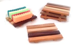 20 handcrafted natural wood soap dishes mini by HowellsProducts