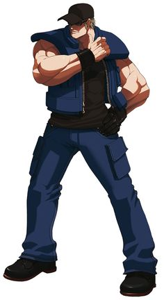 Clark Steel from The King of Fighters 2003
