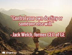 Inspirational Business Quote- Control Your Own Destiny http://www.businessenglishace.com