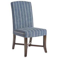 Mercer Dining Chair In Revere Indigo   Nebraska Furniture Mart