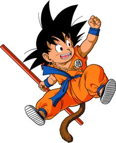 This image is the kid goku of Japanese cartoon dragon ball. This funny kid design is for your creative t-shirts