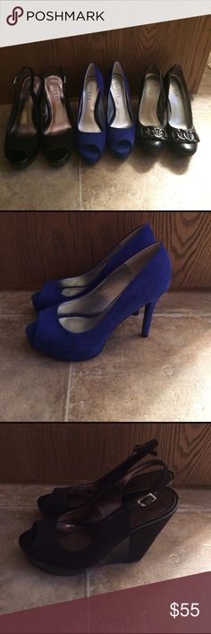 Women's guess shoes Beautiful shoes size 6. In excellent condition. Selling all of them for $55. Make an offer Guess Shoes Platforms