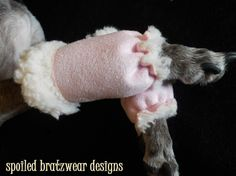 Micro Shearling Leg Warmers for Dogs XS Chihuahua by hatz4brats