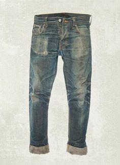 juicydistortion:  Nudie Grim Tim Selvage worn for 8months.