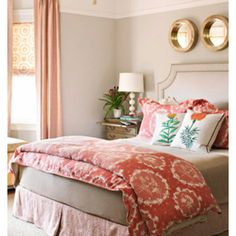 Oh love coral color with neutrals!