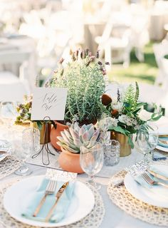 Perfectly styled greenery centerpiece