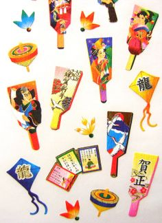 Japanese Stickers New Year Chiyogami Paper by FromJapanWithLove, $6.50