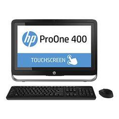 """Hewlett PackardHP ProOne 400 G1 K1K30UT is a Windows 8.1 Pro 64-bit all-in-one desktop of 21.5"""" touchscreen full HD display."""